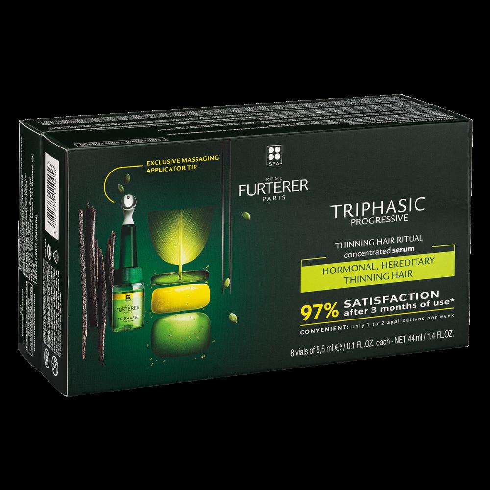 Rene Furterer - Triphasic Hair Loss Treatment for Progressive Hair Loss 8 Vials